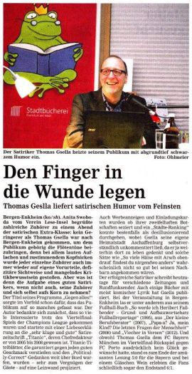 Den Finger in die Wunde legen