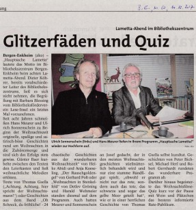 Glitzerfäden und Quiz