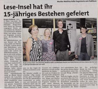 Leseinsel Bergen-Enkheim feiert 15Jähriges